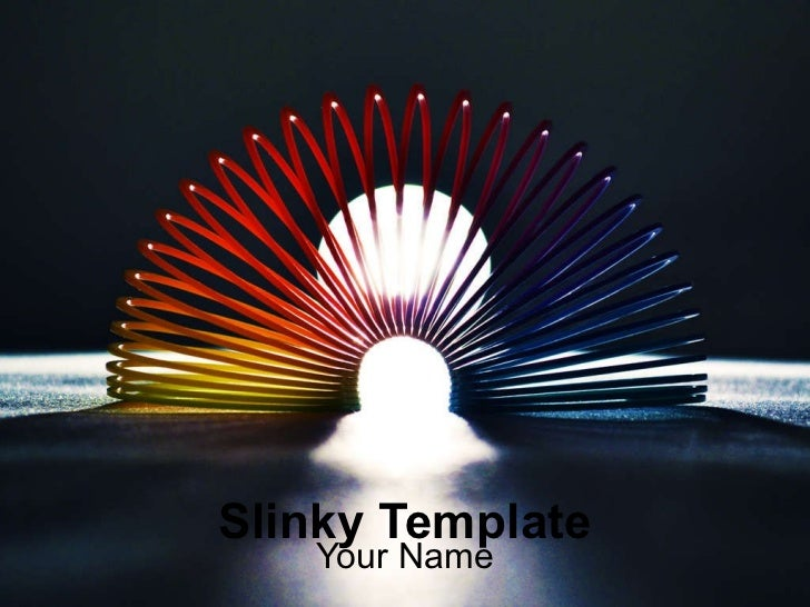 Slinky Template Your Name