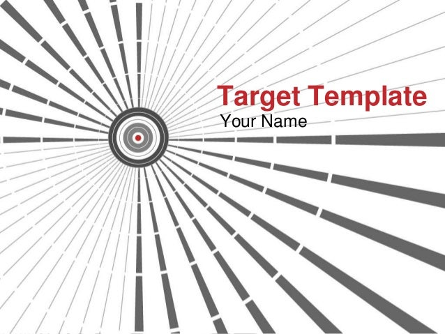 Target Template Your Name