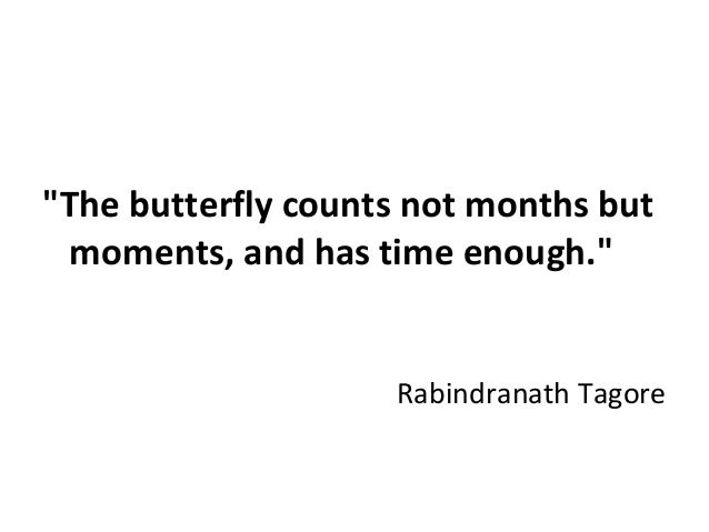 """""""The butterfly counts not months but moments, and has time enough."""" Rabindranath Tagore"""