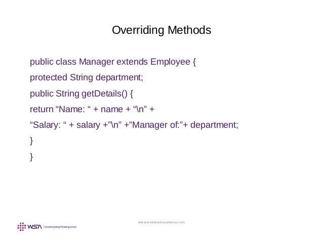 Core Java Programming Language (JSE) : Chapter VI - Class Design