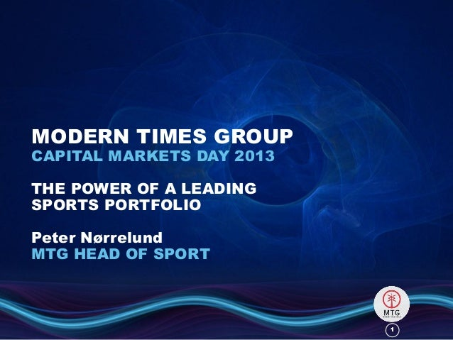11MODERN TIMES GROUPCAPITAL MARKETS DAY 2013THE POWER OF A LEADINGSPORTS PORTFOLIOPeter NørrelundMTG HEAD OF SPORT