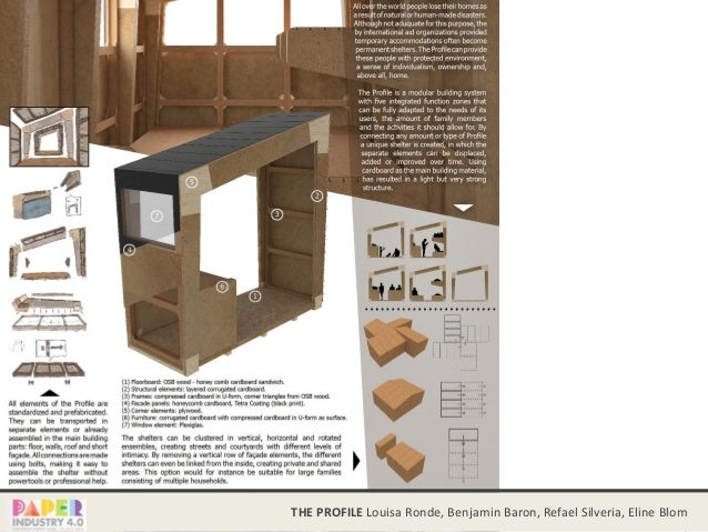Paper and Cardboard as a building material  Tech 01