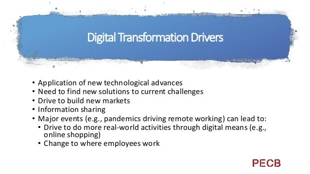 Digital Transformation Controls Transformative Technologies include speed, new technology, and change as elements of their...