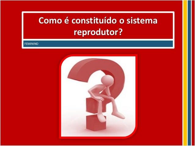 Como é constituído o sistema                   reprodutor?FEMININO