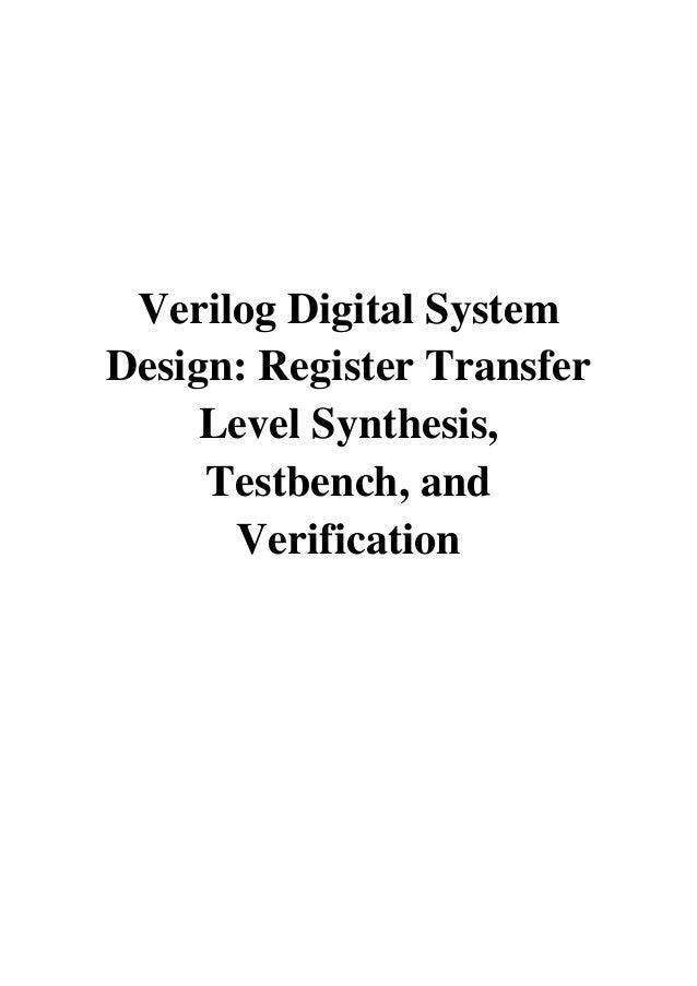 2005 Verilog Digital System Design Pdf Register Transfer Level S