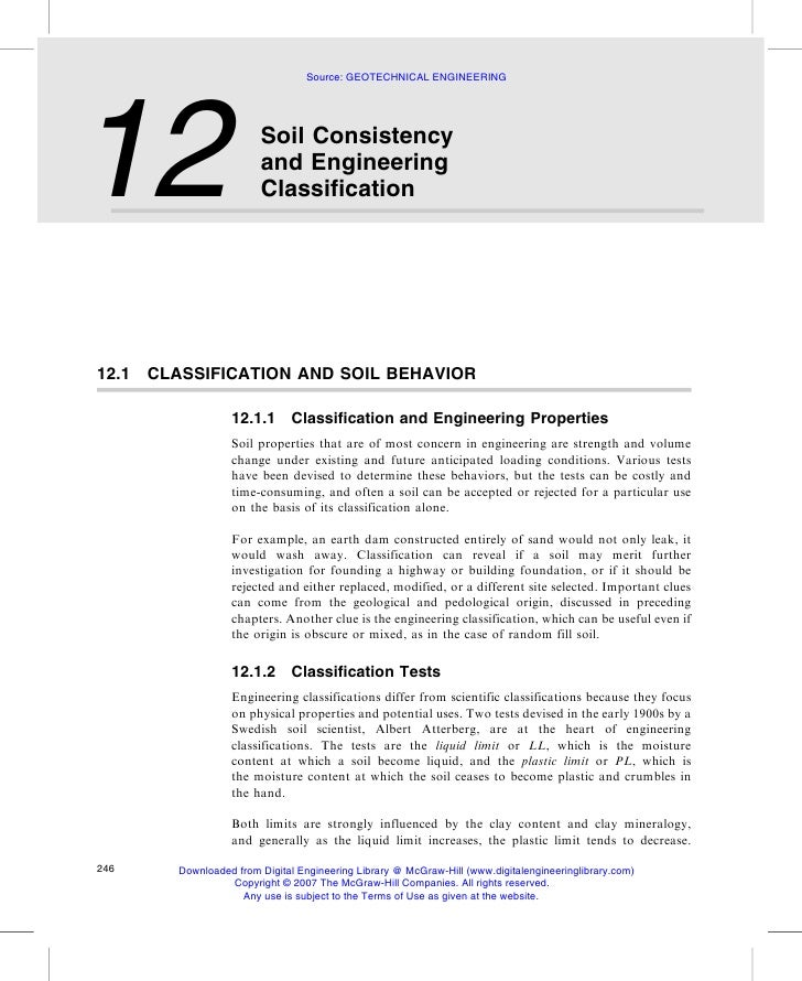 Source: GEOTECHNICAL ENGINEERING     12                     Soil Consistency                        and Engineering       ...