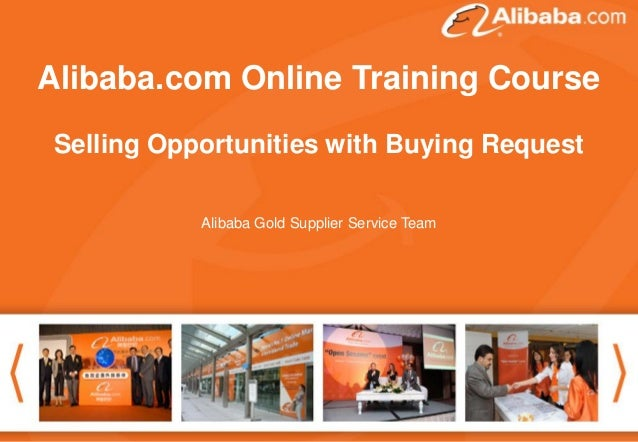 """Alibaba.com Online Training Course Good afternoon. Thank you for attending the webinar . The topic today is """"How to follow..."""