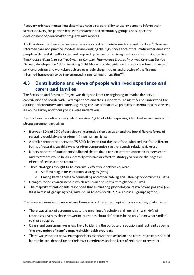 recovery essay mental health The recovery journey – a recovery approach within the irish mental health services position paper 3 the mental health commission was established in april 2002.