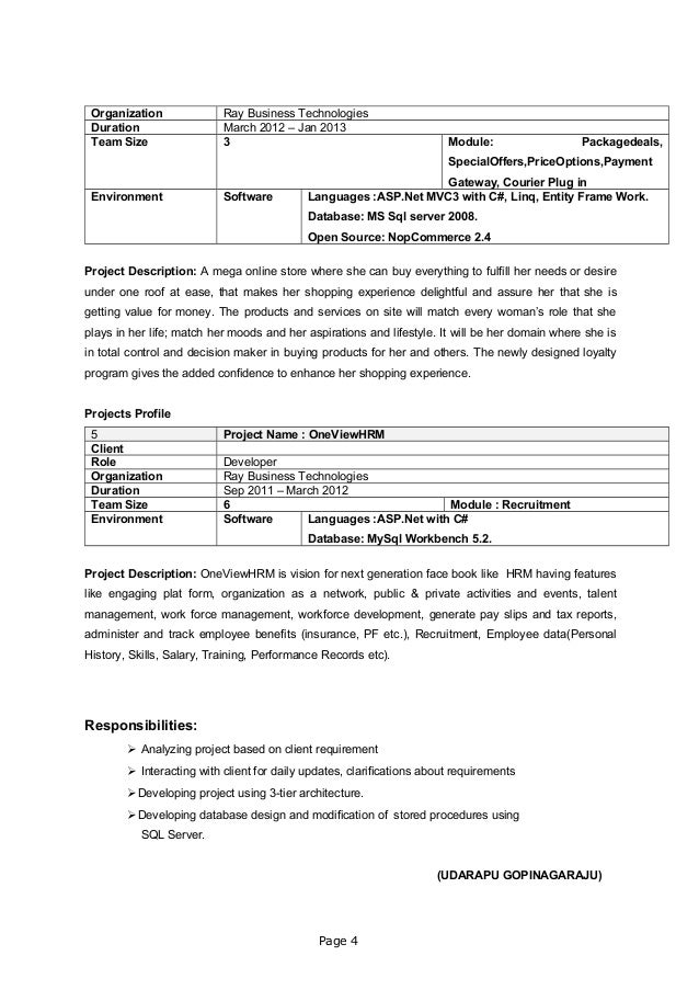 Organization Ray Business Technologies Duration March 2012 – Jan 2013 Team Size 3 Module: Packagedeals, SpecialOffers,Pric...