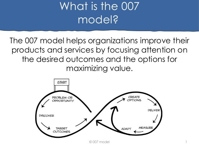 What is the 007 model? The 007 model helps organizations improve their products and services by focusing attention on the ...