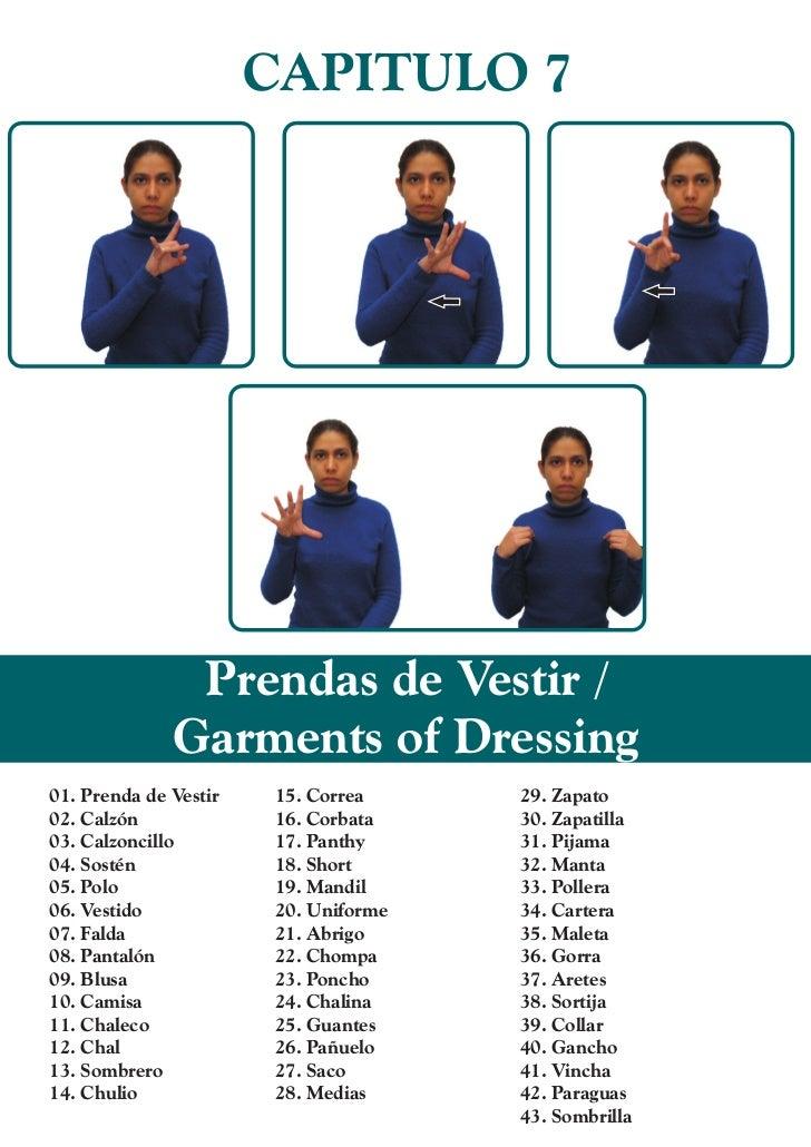 CAPITULO 7               Prendas de Vestir /              Garments of Dressing01. Prenda de Vestir   15. Correa     29. Za...