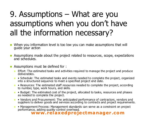 Reasoning and Assumptions