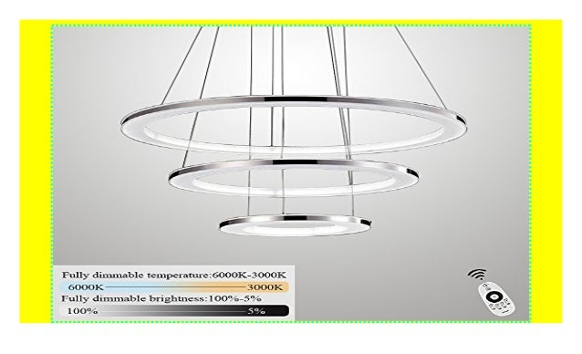 ZMH Moderne LED Pendelleuchte esstisch 96W Led 3-Ring led dimmbar Fe…