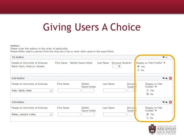Giving Users A Choice
