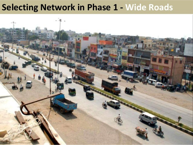 Wide RoadsSelecting Network in Phase 1 - Wide Roads