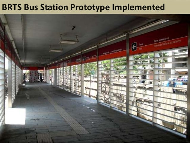 BRTS Bus Station Prototype Implemented