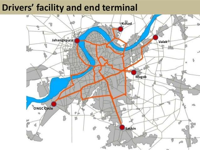 JahangirpuraKosadValakMagobSachinONGC CircleDrivers' facility and end terminal