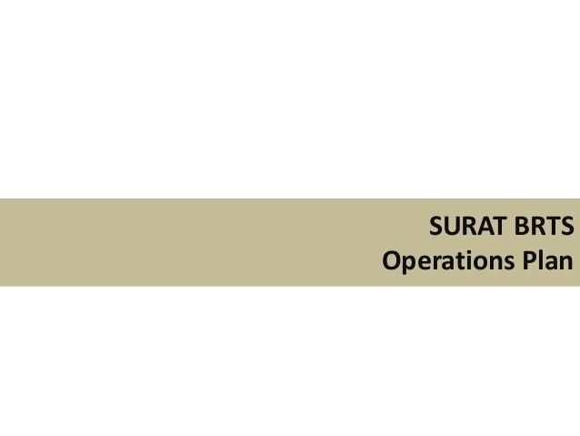SURAT BRTSOperations Plan