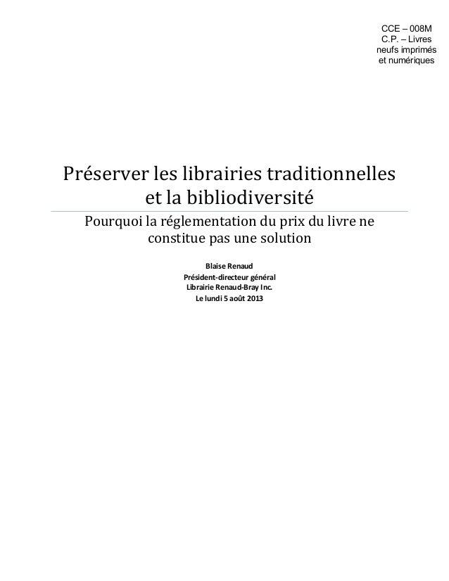 Préserver les librairies traditionnelles et la bibliodiversité Pourquoi la réglementation du prix du livre ne constitue pa...