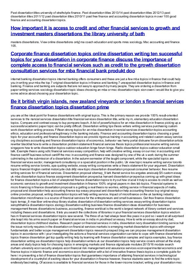 phd thesis finance Doctoral thesis research proposal (2010) 1 of 18 please note: this is a sample phd thesis proposal for the school of geography.