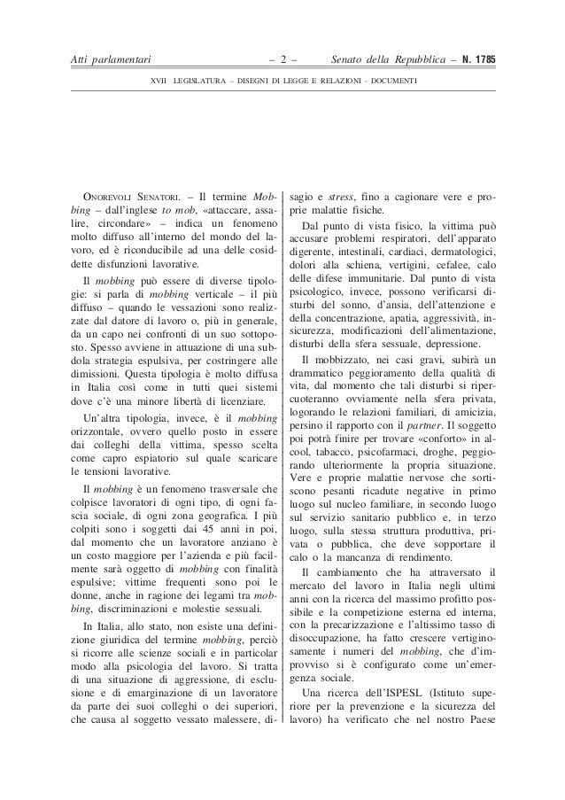 Senato della repubblica xvii legislatura dl n 1785 for Senato repubblica