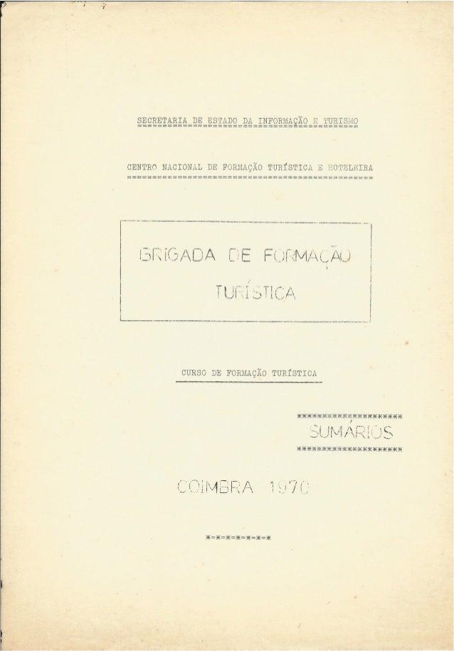 Cursos de Formação Turística – Coimbra - 1970