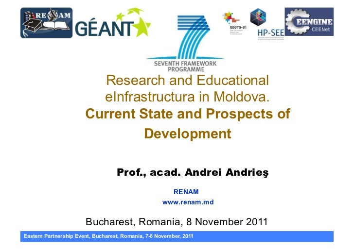 Research and Educational                         eInfrastructura in Moldova.                       Current State and Prosp...