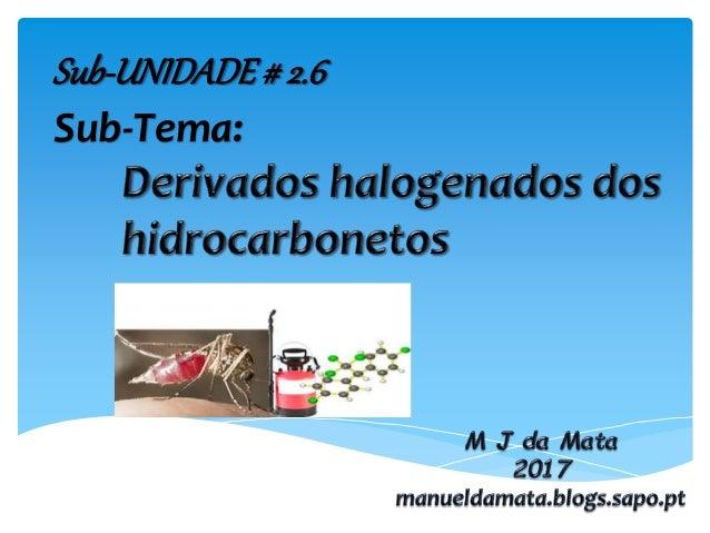 Sub-UNIDADE# 2.6 Sub-Tema: