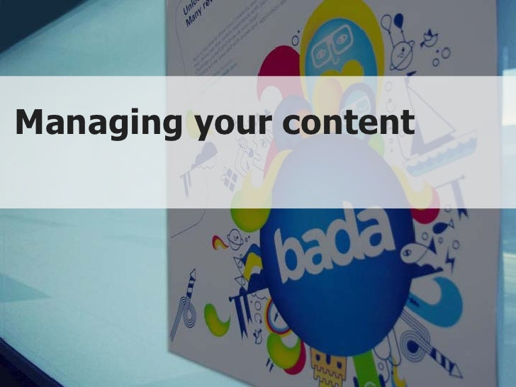 Managing your content                   Copyright © 2010 Samsung Electronics Co., Ltd. All rights reserved.