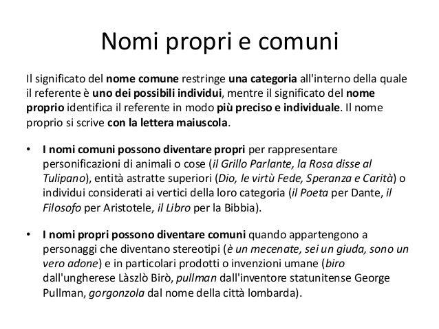 009 Morfologia E Classificazione Dei Nomi