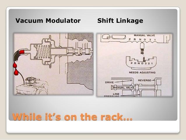 vacuum modulator shift linkage