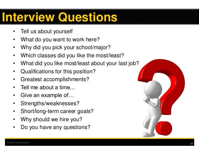 20 kiewit corporation tell us about yourself what do you want to work here why did you pick your schoolmajor which classes did you like - Do You Like Your Job What Do You Like About Your Job Or Least Like