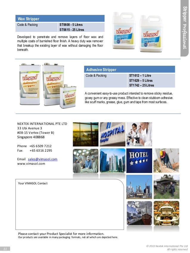 Vimasol Product Catalogue The Value Of Clean