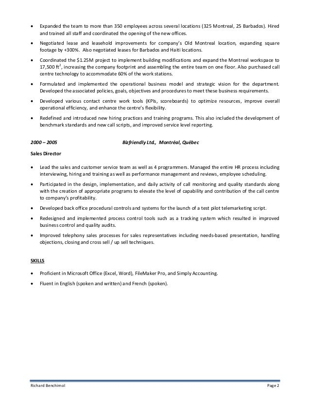 resume footprint reviews richard benchimol classic resume 3
