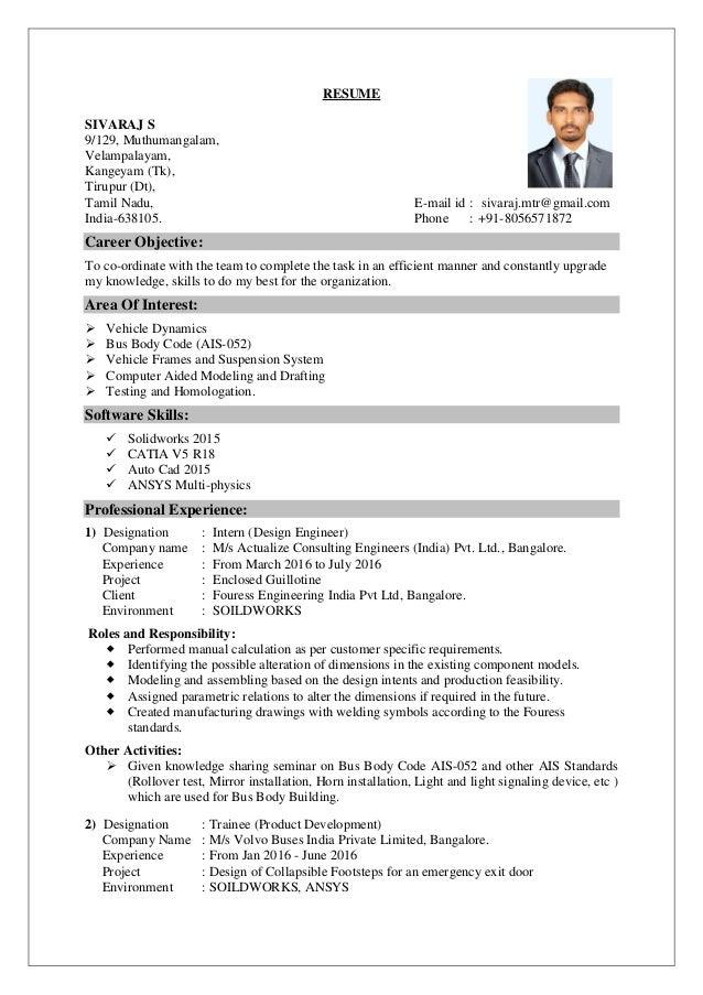 Sivaraj Resume