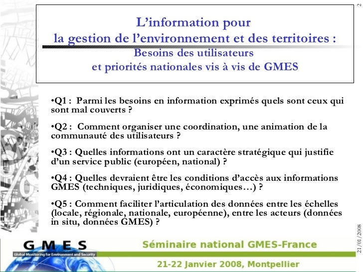 00a gmes utilisateurs-2008-montpellier-synthese Slide 2