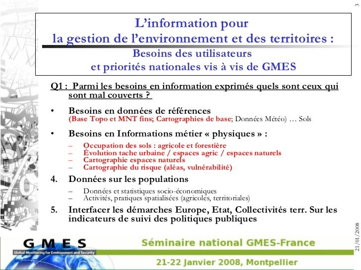 00a gmes utilisateurs-2008-montpellier-synthese Slide 3