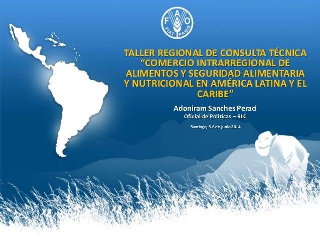 """TALLER REGIONAL DE CONSULTA TÉCNICA """"COMERCIO INTRARREGIONAL DE ALIMENTOS Y SEGURIDAD ALIMENTARIA Y NUTRICIONAL EN AMÉRICA..."""