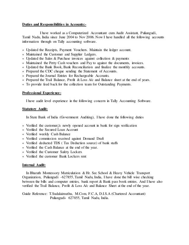 Amazing Government Resume For Chartered Accountant Elaboration ...