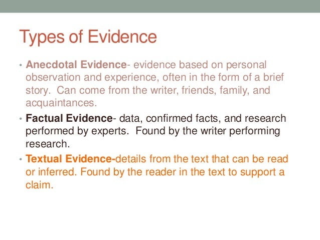 15 Types of Evidence and How to Use Them