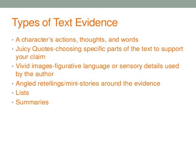 how to explain evidence in an essay