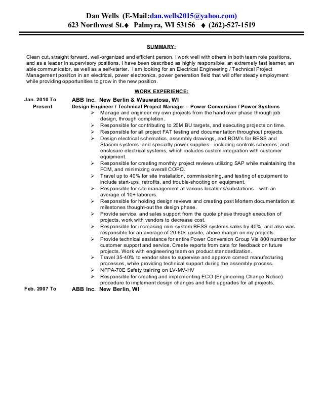 Sar resume