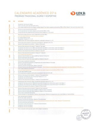 Calendario Academico Udla 2019.00 Calendario Academico Udla 2016