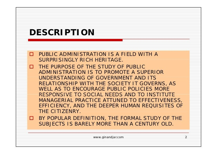 Four Approaches Public Administration Free Essays
