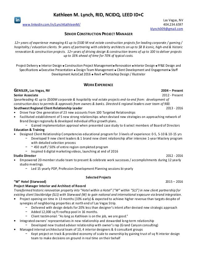 20160918_KML RE Resume Mastery Glossary sc. Kathleen M. Lynch, RID, NCIDQ,  LEED ID+C Las Vegas, ...