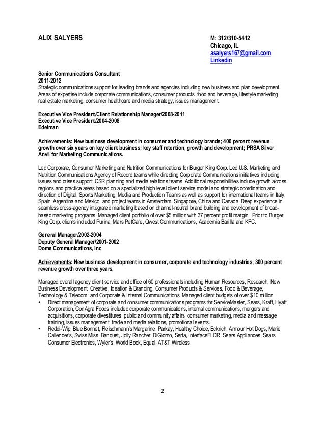 resume example resume example corporate communications corporate communication executive resume - Vp Corporate Communication Resume
