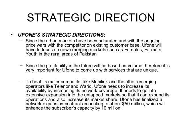 Marketing Plan of UFONE