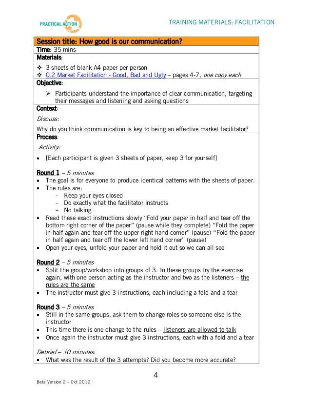 facilitation training materials facilitator guide rh slideshare net Facilitator Guide Formats Training Facilitator Guide Template Sample