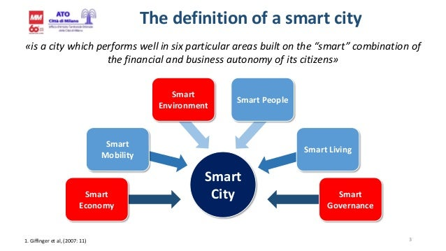 """3 The definition of a smart city «is a city which performs well in six particular areas built on the """"smart"""" combination o..."""