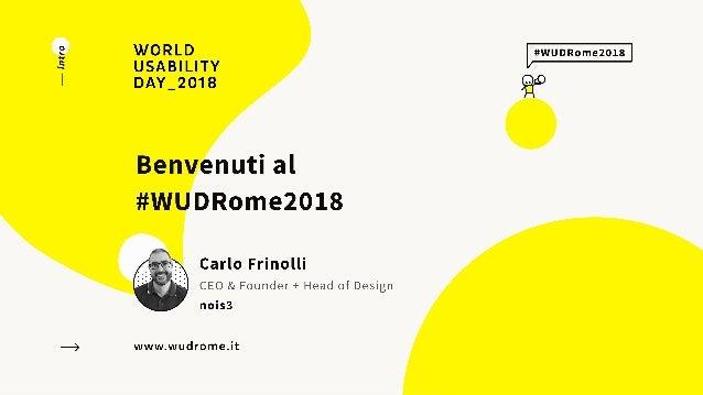 Carlo Frinolli - Welcome #WUDRome2018 Slide 2